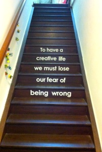 Staircase leading up to When I Create
